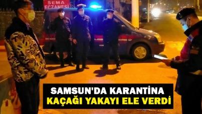 Samsun'da karantina kaçağı yakayı ele verdi