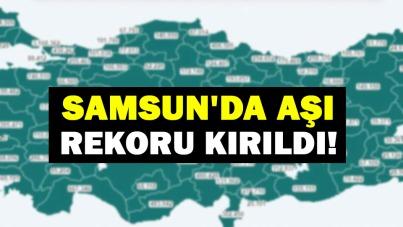 Samsun'da aşı rekoru kırıldı!