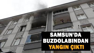 Samsun'da buzdolabından yangın çıktı