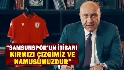 Başkan Yıldırım: 'Samsunspor'un itibarı kırmızı çizgimiz ve namusumuzdur'