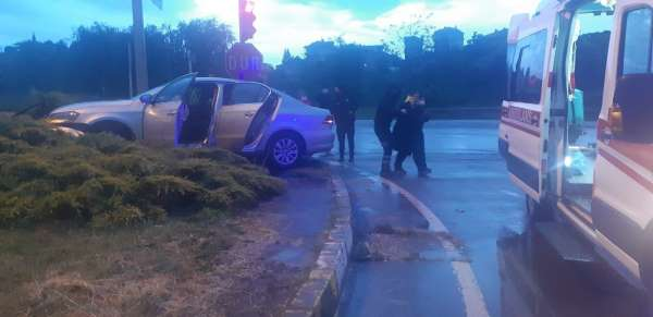 Akçakocada trafik kazası: 1 yaralı