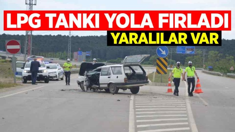 LPG tankı yola fırladı: Yaralılar var