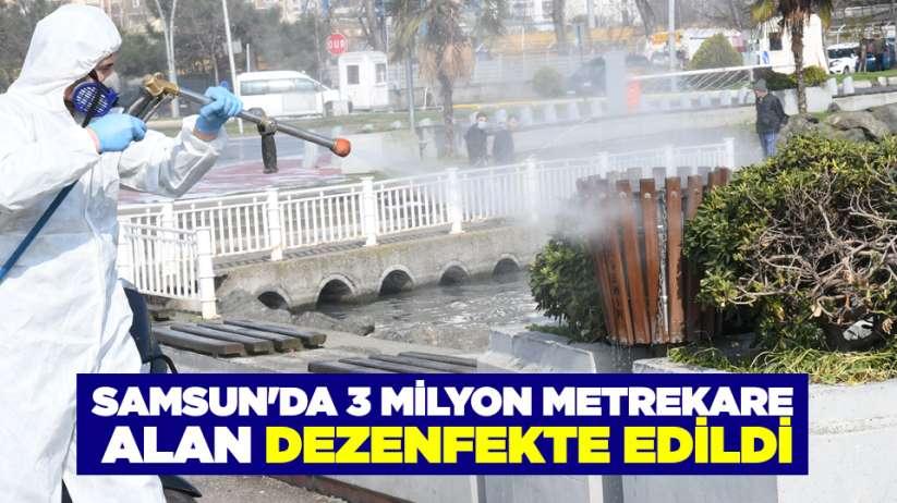 Samsun'da 3 milyon metrekare alan dezenfekte edildi