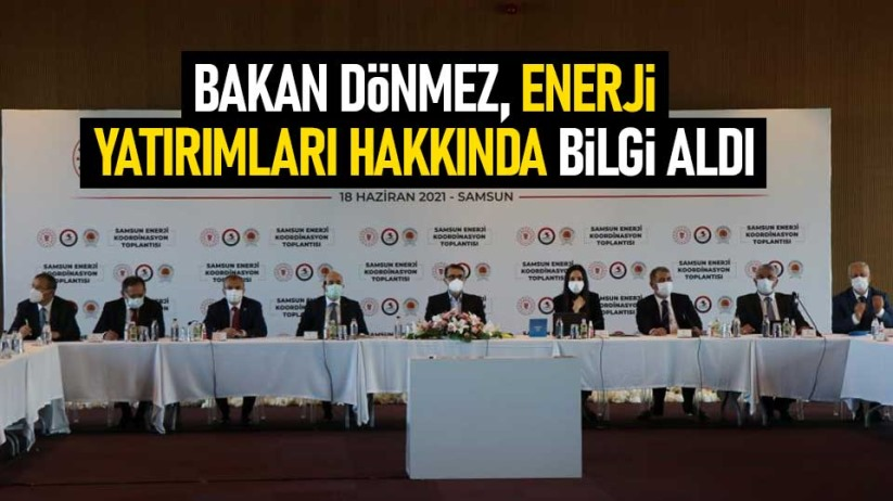 Bakan Dönmez, enerji yatırımları hakkında bilgi aldı