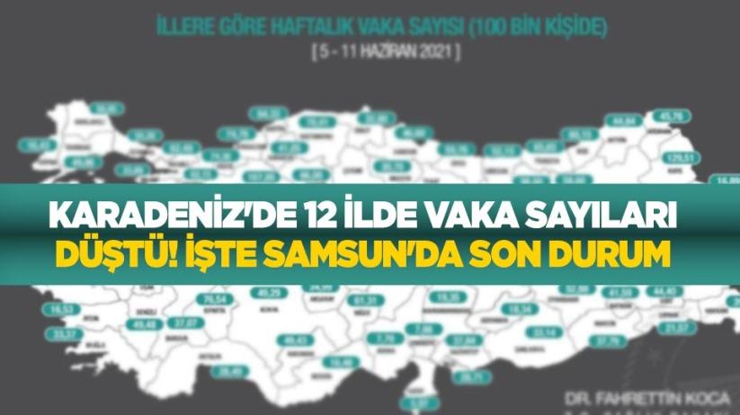 Karadenizde 12 ilde vaka sayıları düştü, 6 ilde arttı