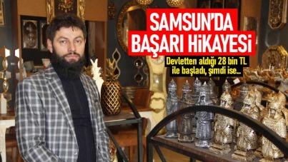 Samsun'da başarı hikayesi! Devletten aldığı 28 bin TL destek ile kurdu ve...