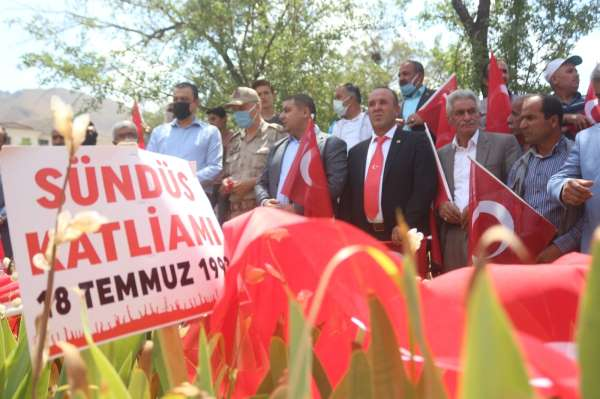 PKK terör örgütünün katlettiği 24 Sündüs şehidi mezarları başında anıldı