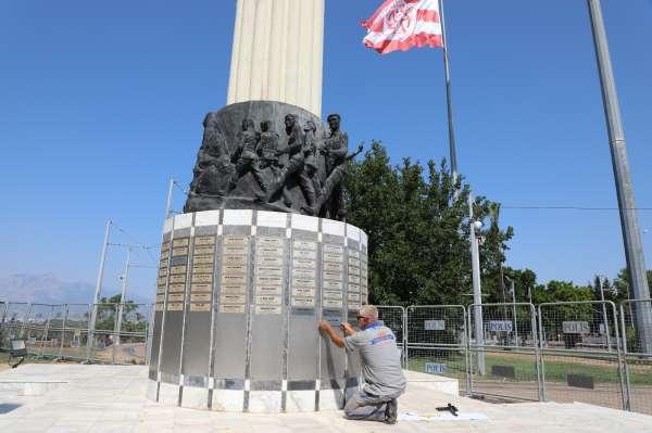 Şehitler Anıtında eksik olan 30 Şehidin isim levhası eklendi