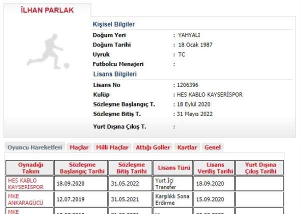 Kayserispor İlhan ile sözleşme yaptı