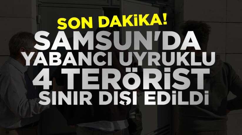 Samsun'da 4 terörist serbest bırakıldı
