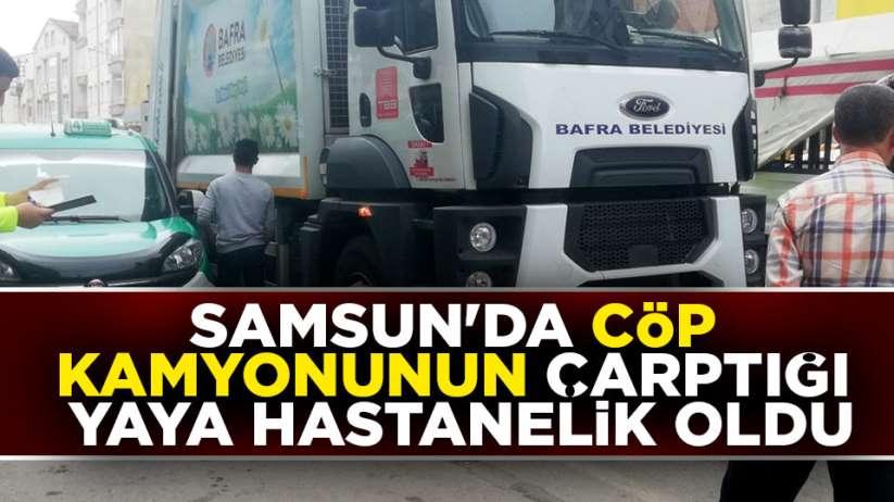 Samsun'da çöp kamyonu can alıyordu