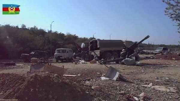 Azerbaycan ordusu Fuzuli'de Ermenistan'a ait askeri birliği ele geçirdi