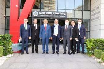 TBB Başkanı Aydın'dan Manisa TSO yönetimiyle istişarede bulundu