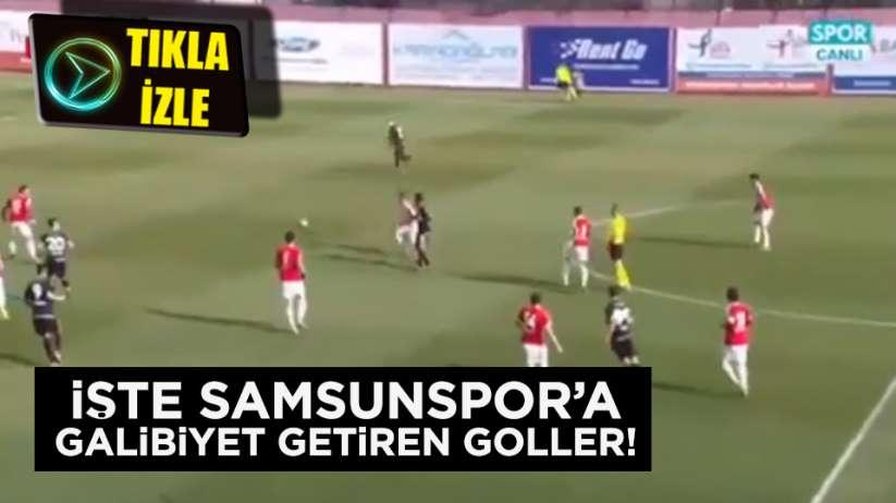 İşte Samsunspor'a galibiyet getiren goller!