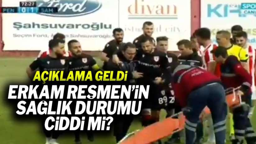 Samsunspor'da Erkam Reşmen'in sakatlığı ciddi mi? Flaş açıklama!