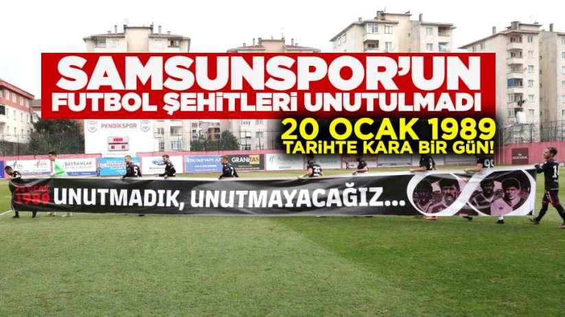 Samsunsporlu futbolcular, 20 Ocak Samsunspor şehitlerini unutmadı