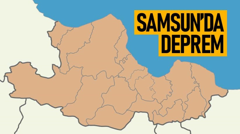 Son dakika! Samsun'da deprem