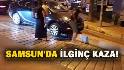 Samsun'da ilginç kaza!