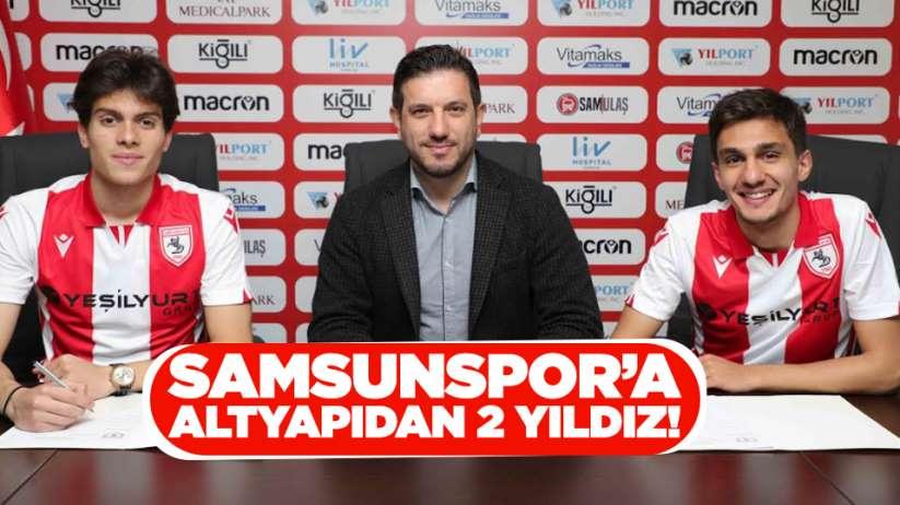 Samsunspor'a alt yapıdan 2 yıldız !