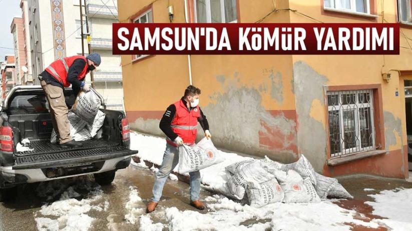 Samsun'da kömür yardımı