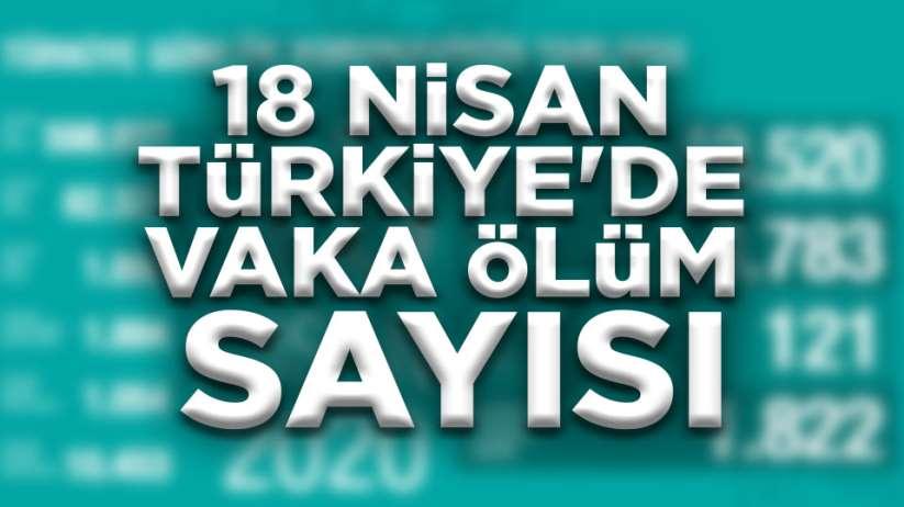 18 Nisan Türkiye'de vaka ölüm sayısı