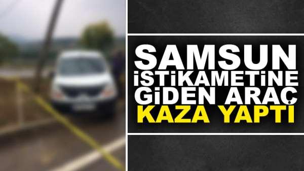 Samsun istikametine giden araç kaza yaptı:1 ölü 3 yaralı