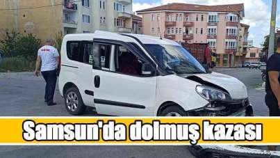 Samsun'da dolmuş kazası