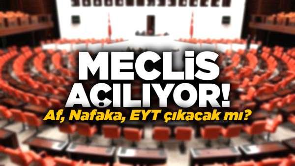 Meclis açılıyor! Af, Nafaka, EYT çıkacak mı?