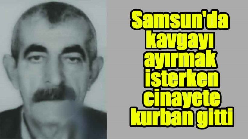 Samsun'da kavgayı ayırmak isterken cinayete kurban gitti