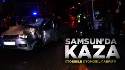 Samsun'da trafik kazası; 1 yaralı