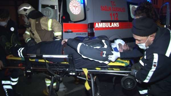 Güngören tramvay yolunda trafik kazası: 1'i ağır 5 yaralı