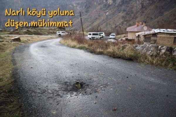 Teröristlerin attığı roketler köye düştü
