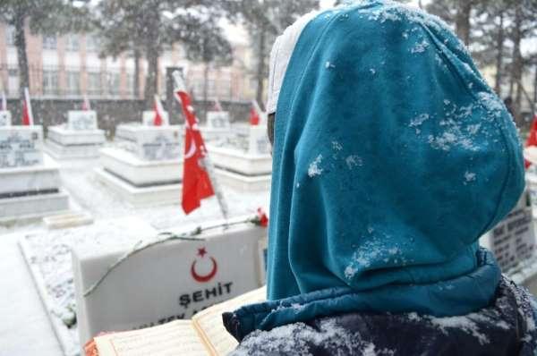 Lapa lapa kar altında şehitler için hatim duası