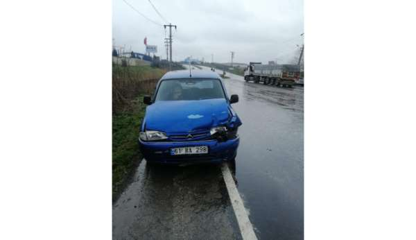 Muratlıda trafik kazası: 1 yaralı