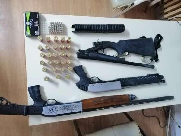 Polis silahlı saldırıda kullanılan 3 adet pompalı tüfeği buldu
