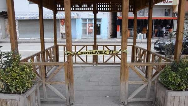 Sinopta korona önlemleri: Banklar kaldırıldı