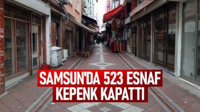 Samsun'da 523 esnaf kepenk kapattı