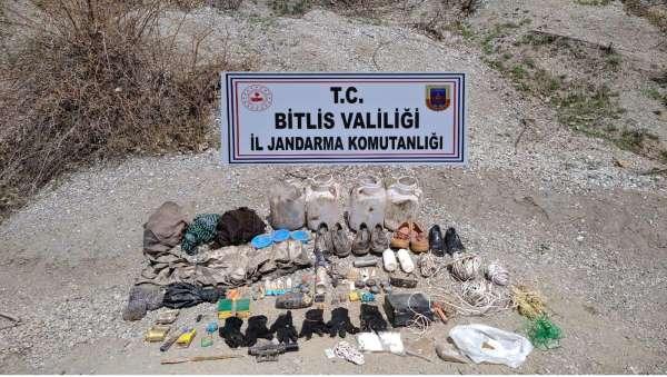 Bitliste patlamaya hazır TNT ve inşaat malzemesi ele geçirildi