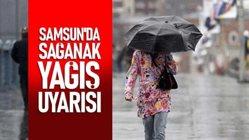 Samsunda sağanak yağış uyarısı