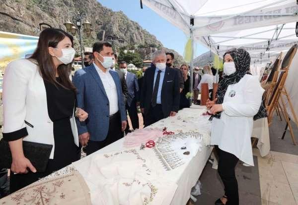 Amasyada el sanatları sergisi düzenlendi