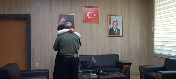 Mardin'de teslim olan terörist ailesi ile buluştu