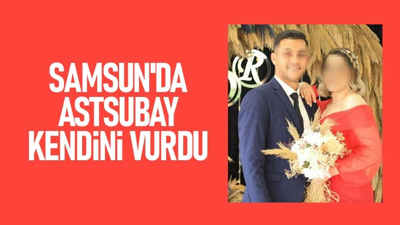 Samsunda astsubay kendini vurdu