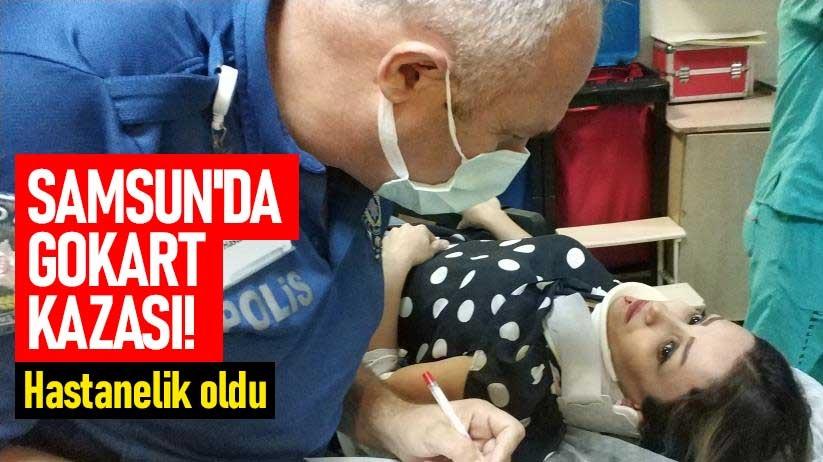 Samsunda Gokart kazası! Hastanelik oldu