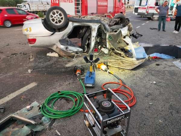 Başkentte trafik kazası: 1 ölü, 2 yaralı