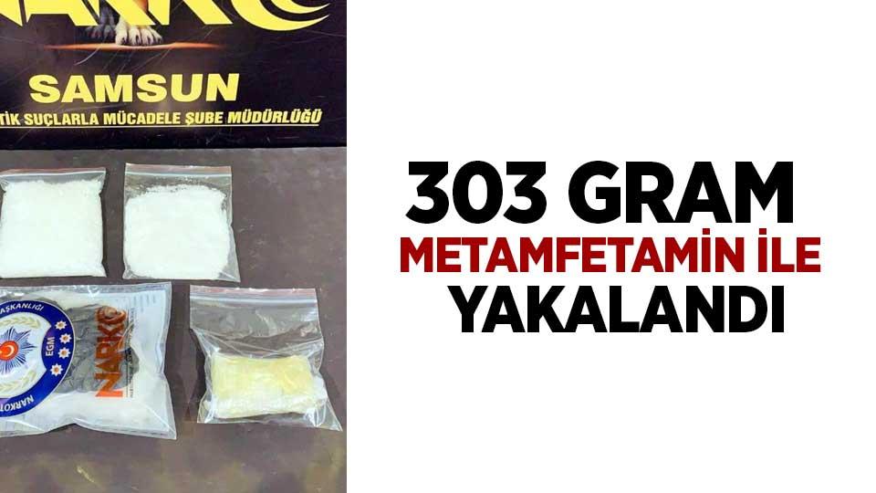 Samsun'da bir kişi 303 gram metamfetamin ile yakalandı