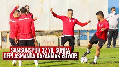Samsunspor 32 yıl sonra deplasmanda kazanmak istiyor