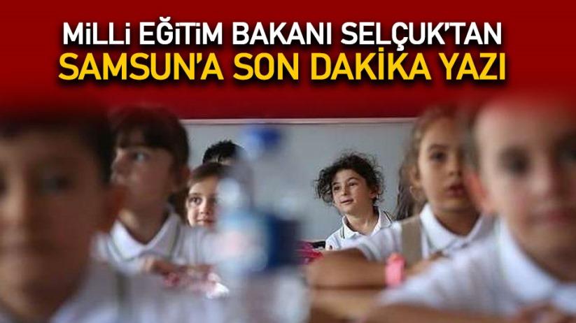 Milli Eğitim Bakanı Samsun'a yazı gönderdi