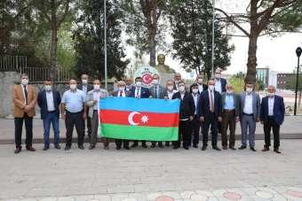 Amasyalı muhtarlar: 'Azerbaycanlı kardeşlerimizin yanındayız'