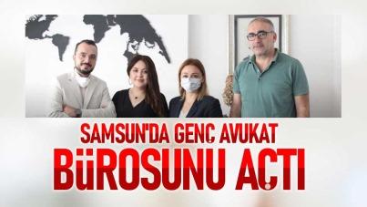 Samsun'da genç Avukat Saliha Efsun Erol, bürosunu açtı
