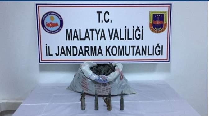 Malatya'da uçak eğitim mermisi ele geçirildi